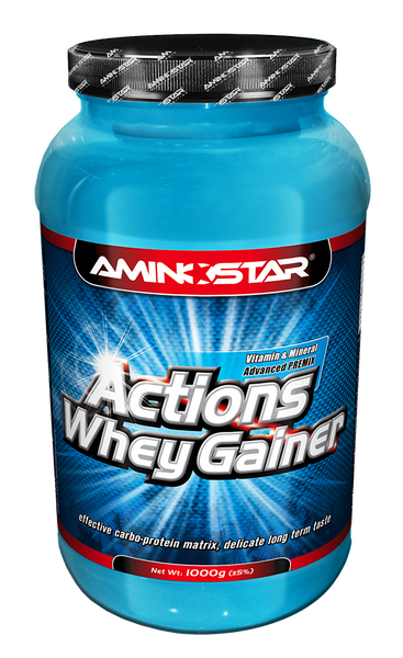 Actions Whey Gainer 1000 g jahoda Aminostar