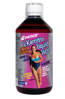 L-Karnitin Liquid Extra Strong 1400 500 ml lesní plody Penco