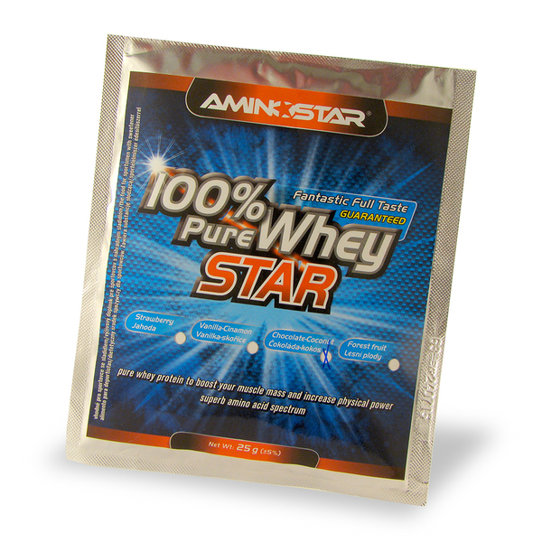 100% pure whey star 25 g lesní plody AminoStar