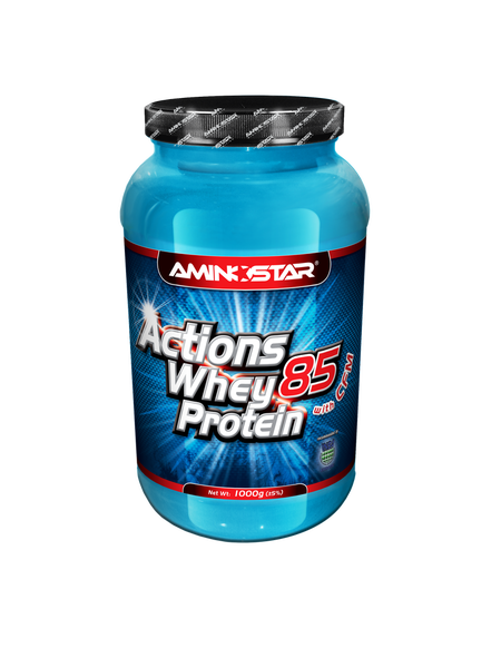 Aminostar Whey Protein ACTIONS 85 with CFM citrón - jogurt 1000 g